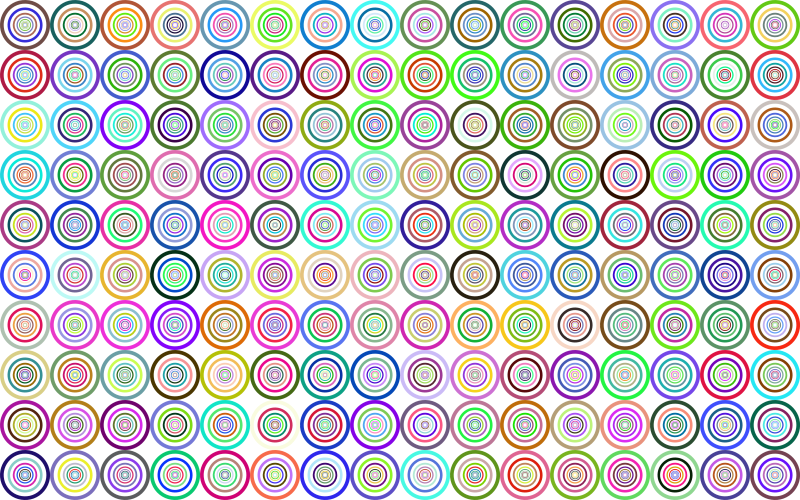 Prismatic Groovy Concentric Background No Black