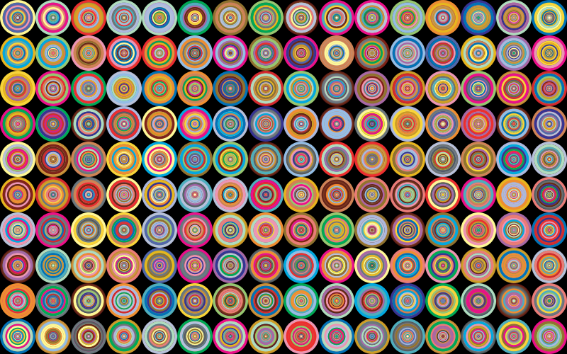 Prismatic Groovy Concentric Background 2