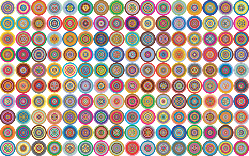 Prismatic Groovy Concentric Background 2 No Black