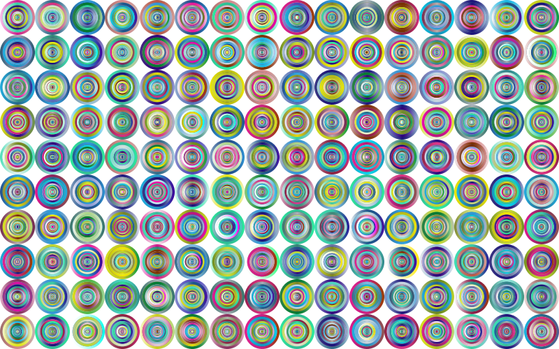 Prismatic Groovy Concentric Background 3 No Black