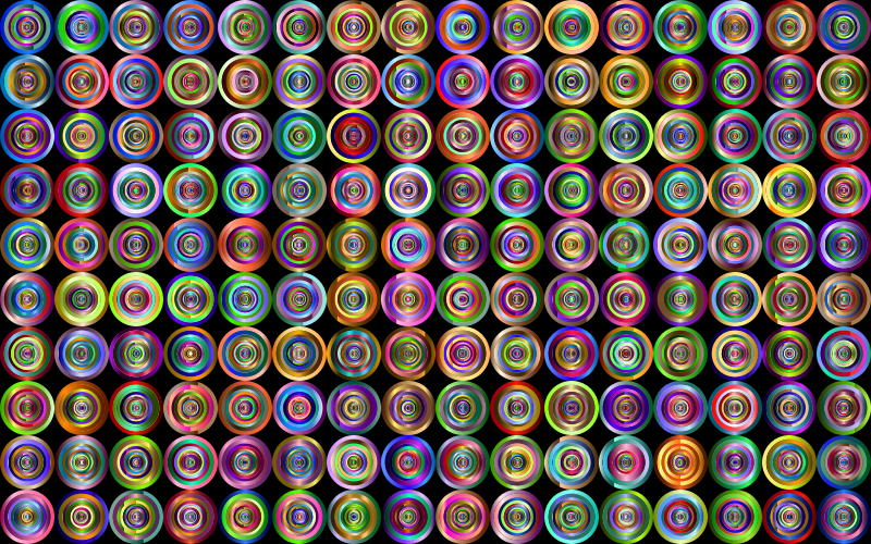 Prismatic Groovy Concentric Background 4