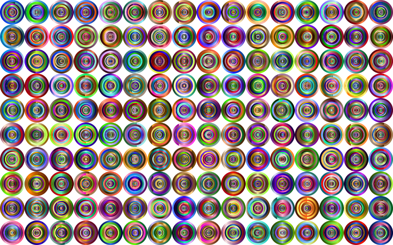 Prismatic Groovy Concentric Background 4 No Black
