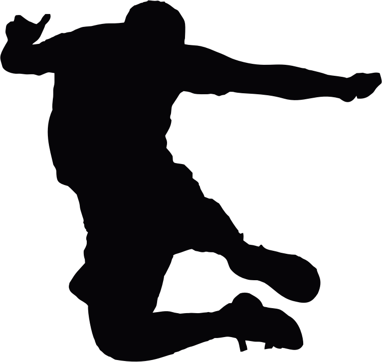 Jumping Man Silhouette 3
