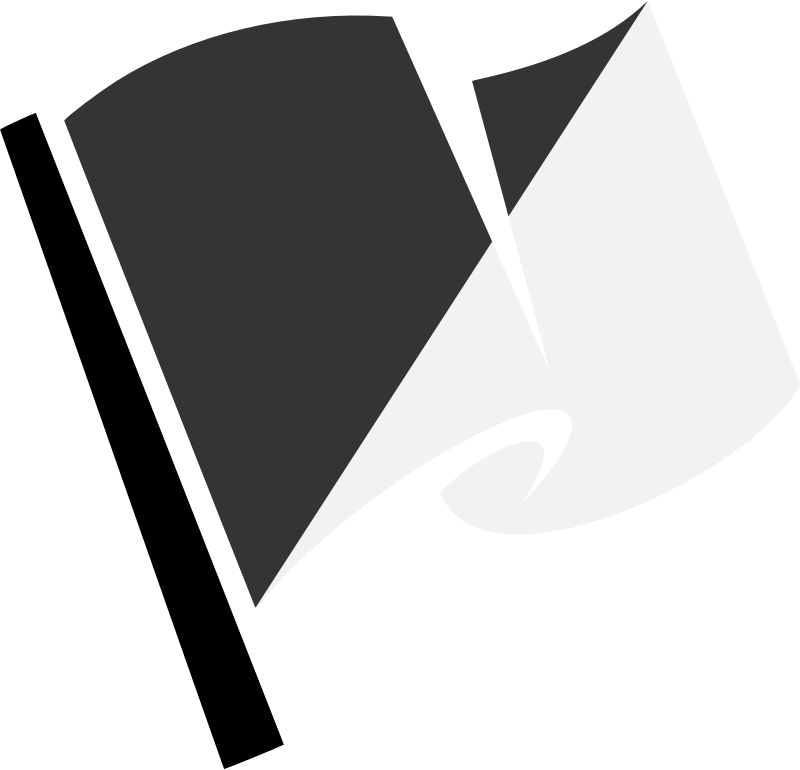 Hirnlichtspiele's black and white flag vectorized