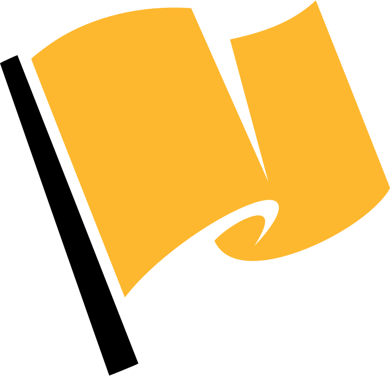 Hirnlichtspiele's yellow flag vectorized