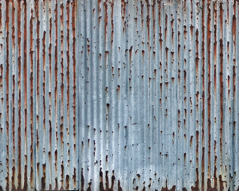 Corrugated metal 8