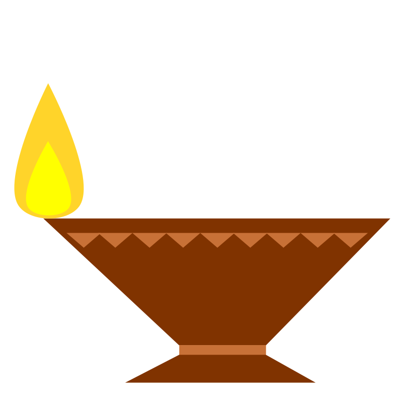 Lamp (Diya) for the festival of Deepavali.
