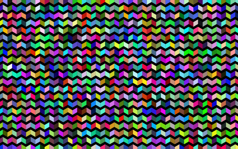 Prismatic Chevrons Pattern With Background