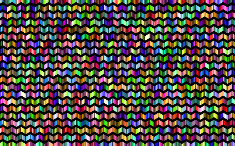 Prismatic Chevrons Pattern 6 With Background