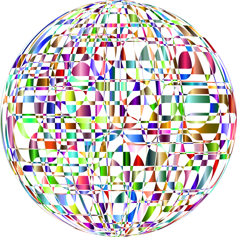 Abstract Chromatic Orb No Background
