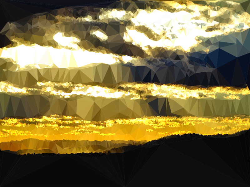 Low Poly Cloudy Sunset