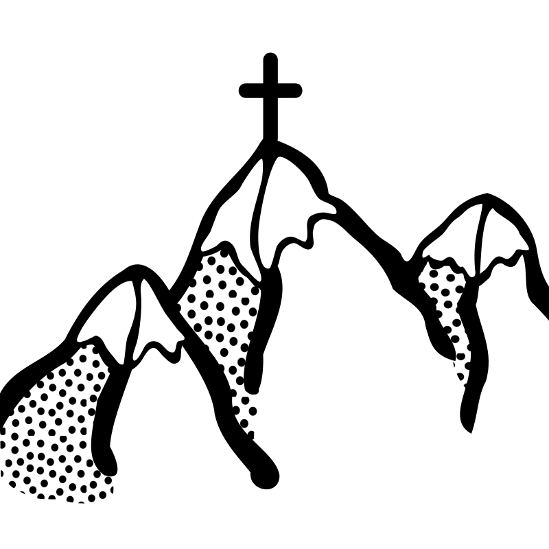 mountains - lineart