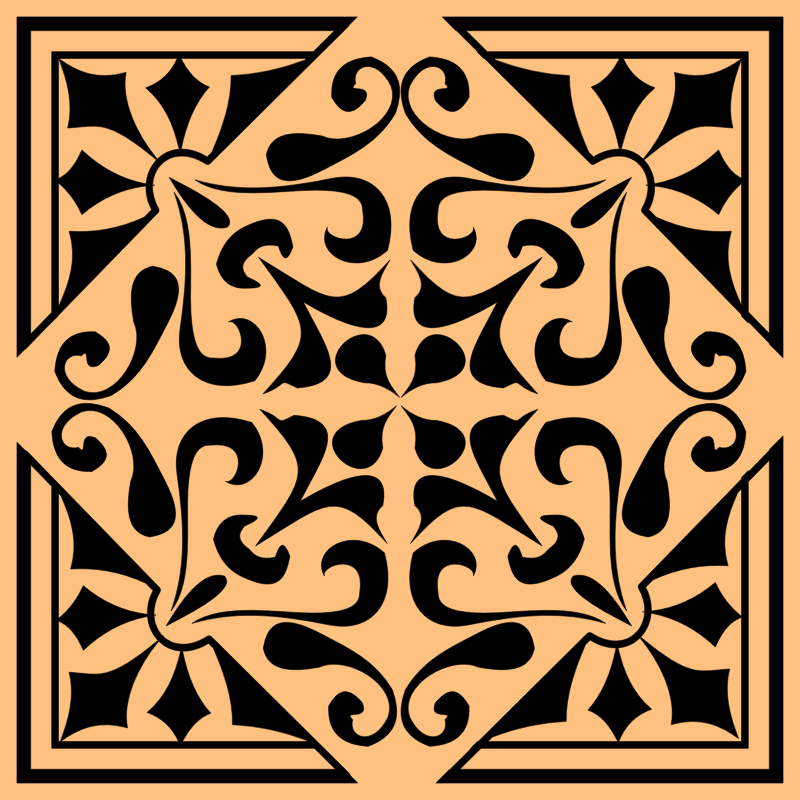 Tile with background