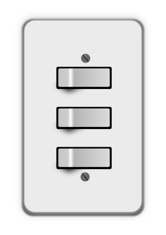 Light switch 3 switches (all on)