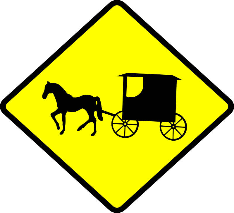 Caution Amish Buggies