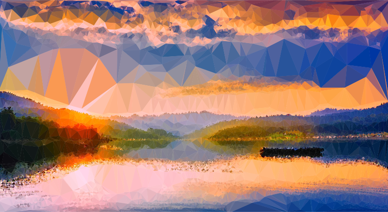 Low Poly Romanian Lake