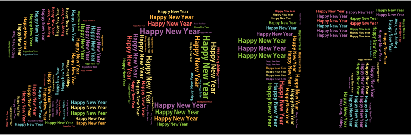 Happy New Year 2017 Word Cloud