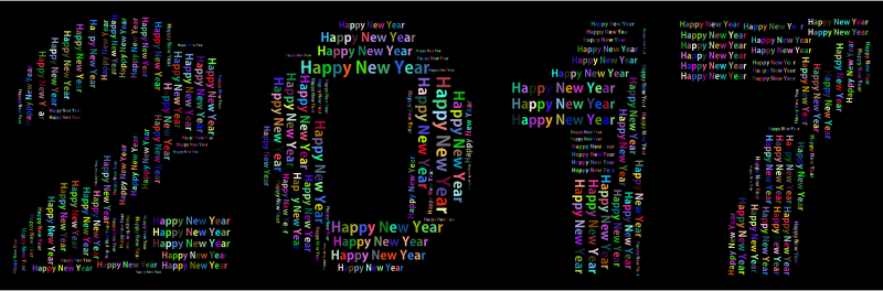 Prismatic Happy New Year 2017 Word Cloud