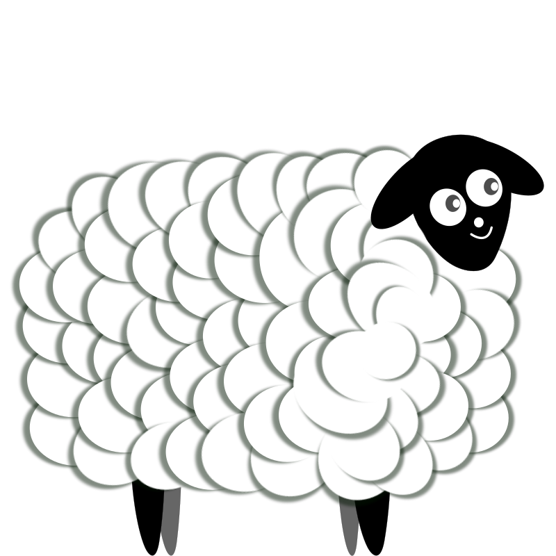 Fluffy Sheep, two color