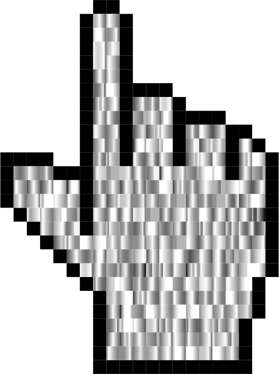 Prismatic Hand Cursor Pointer Grid 5