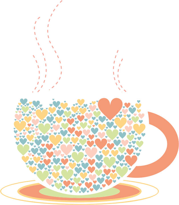 Love Hearts Coffee By Lin Chu