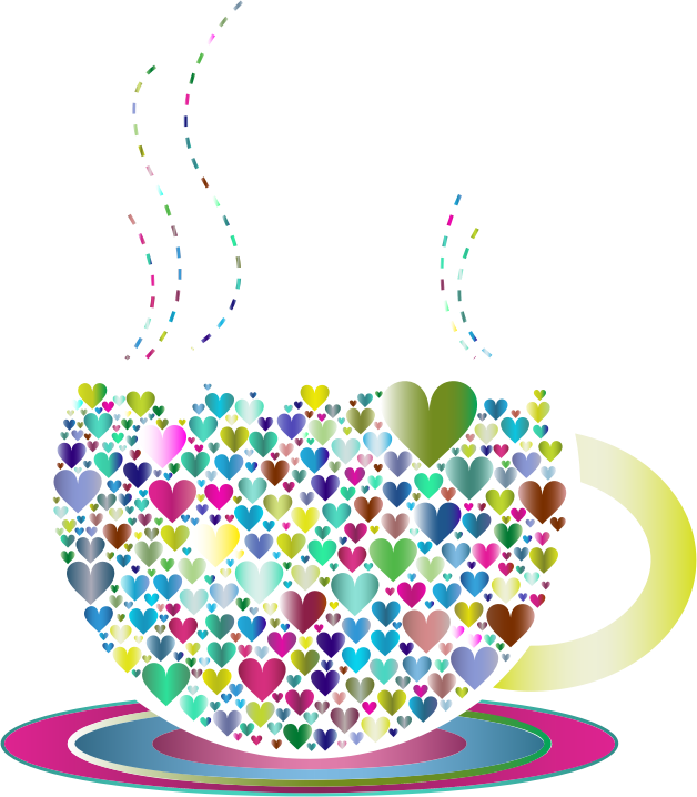 Prismatic Love Hearts Coffee By Lin Chu 2
