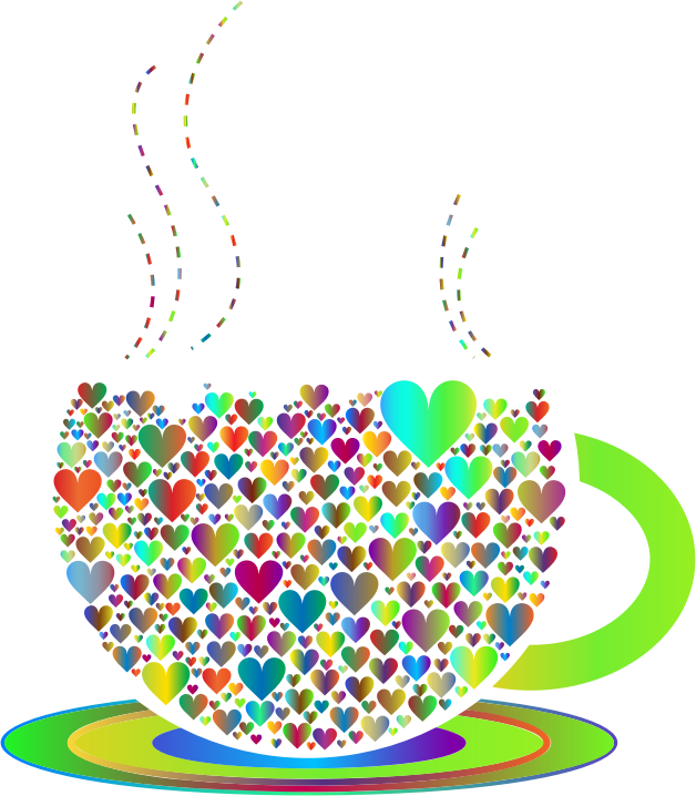 Prismatic Love Hearts Coffee By Lin Chu 3