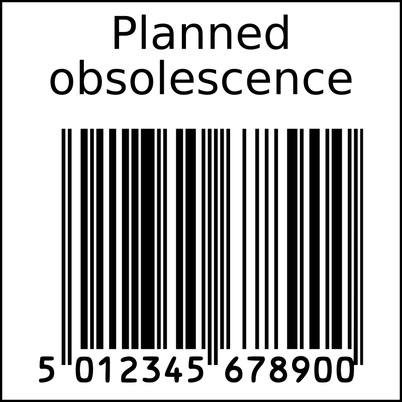 Planned obsolescence barcode in squarre