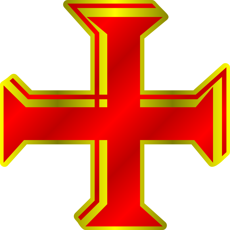 Red and Gold Cross