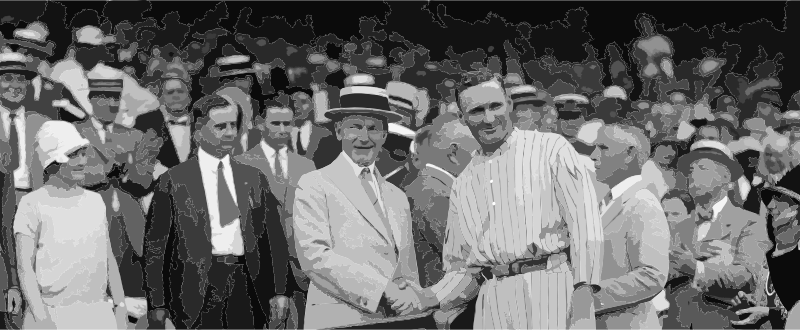 Walter Johnson and Calvin Coolidge shake hands FINAL