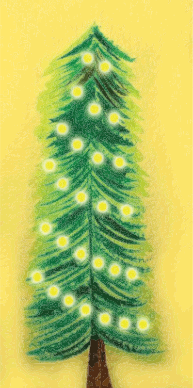 Remixed Christmas Tree Illuminated, traced.