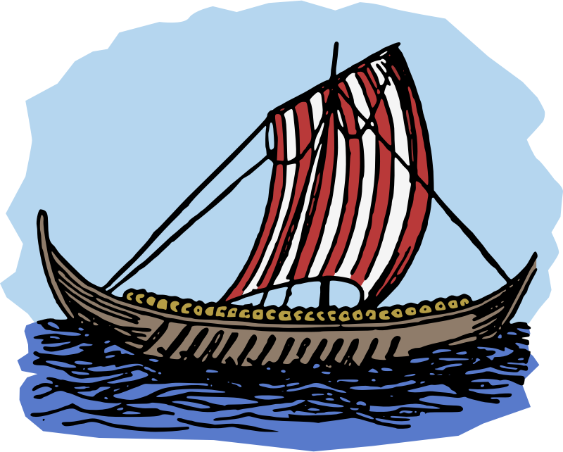 Viking Boat - Colour
