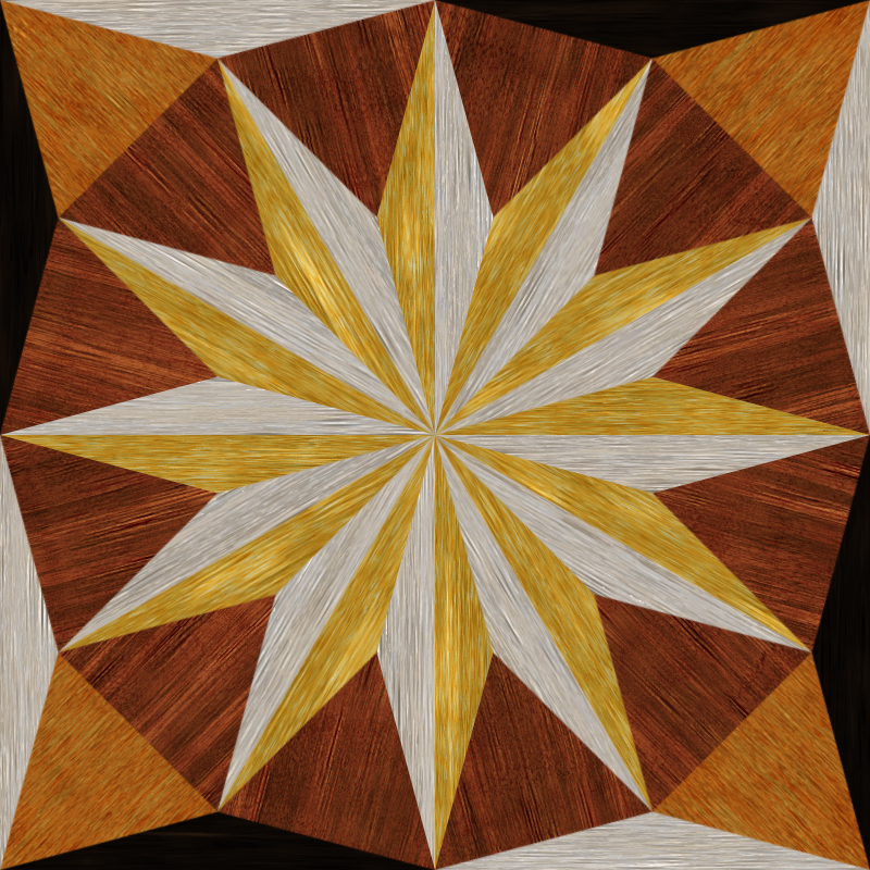 wooden triangle tiling 2
