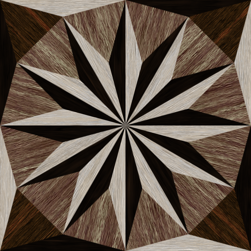 wooden triangle tiling 3