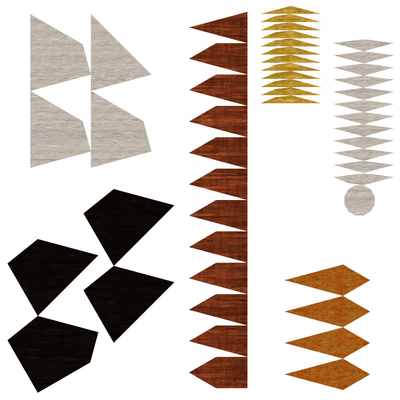 disassembled wooden tile remix