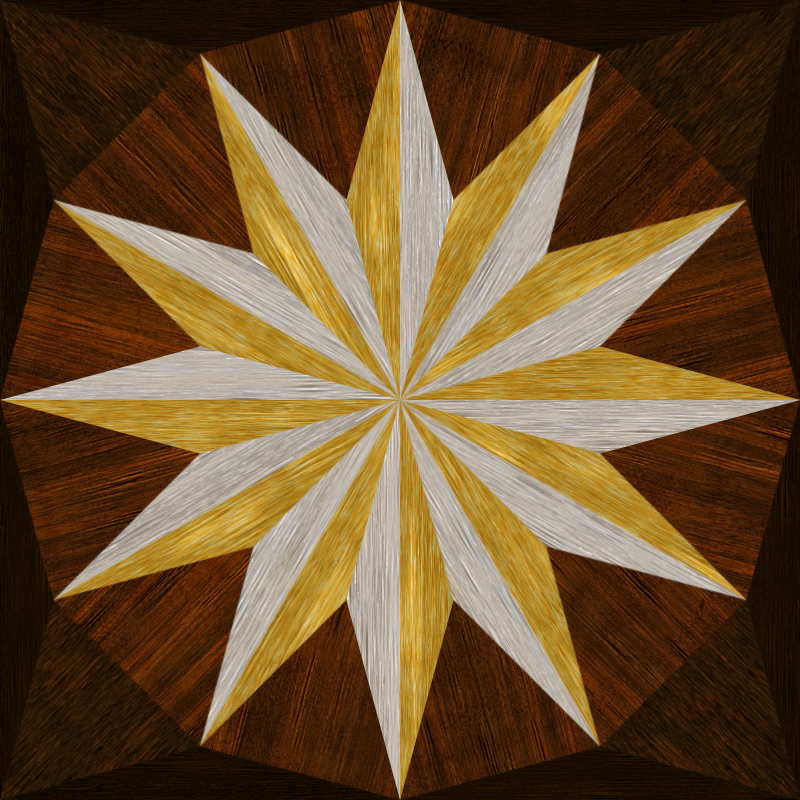 wooden triangle tiling 5