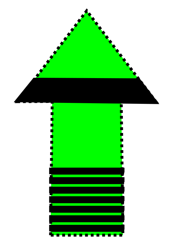 Green and Black arrow