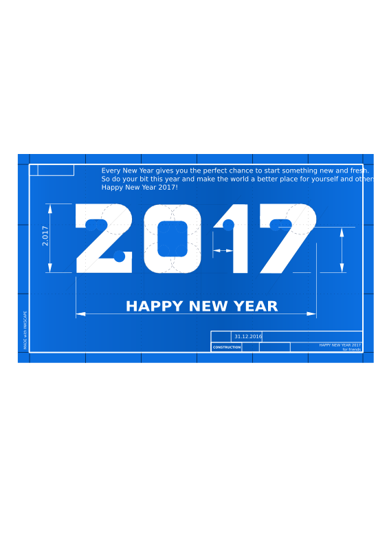 Happy New Year Blueprint