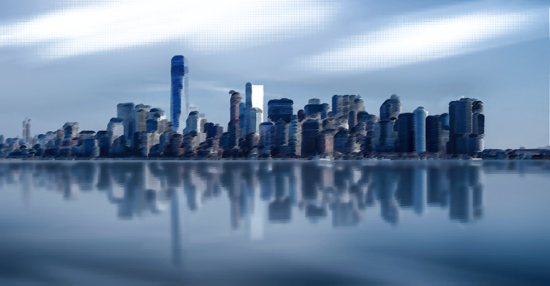 Surreal New York Skyline