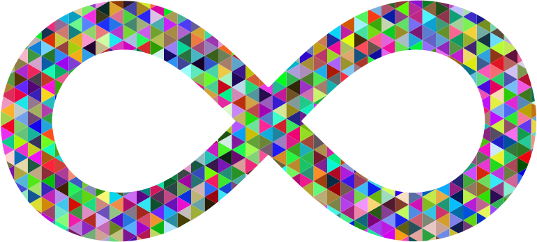 Prismatic Triangular Infinity Symbol