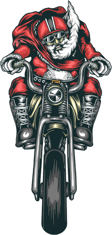Motorcycle Santa Straightened