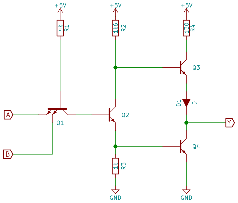 TTL 7400 internal circuit