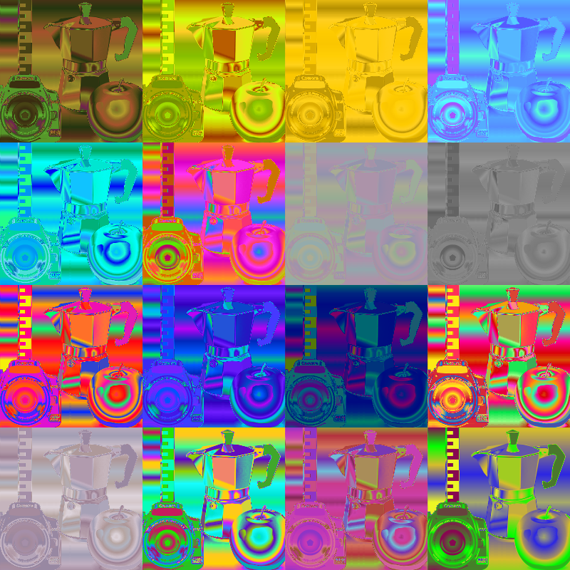 random generated colour map filter pack