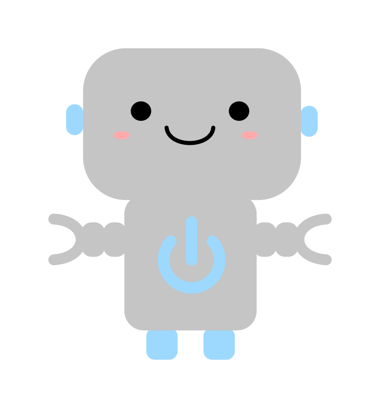 Kawaii Robot with Power Symbol