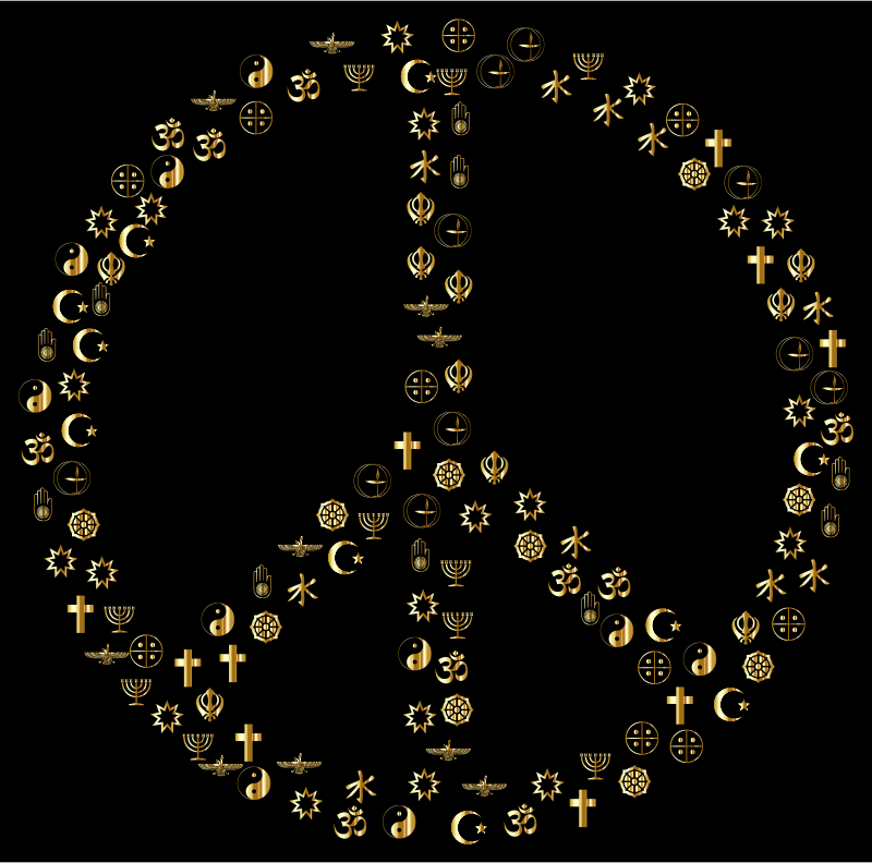 Gold World Religions Peace