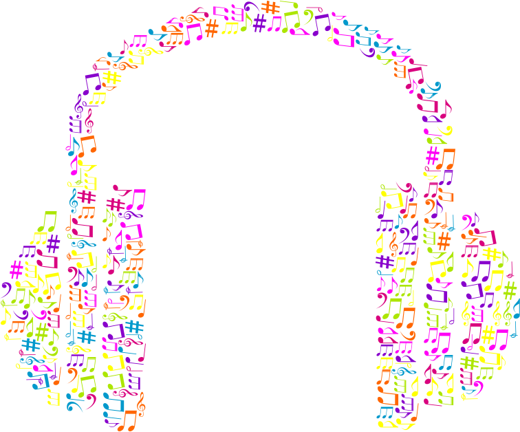 Musical Notes Headphone No Background