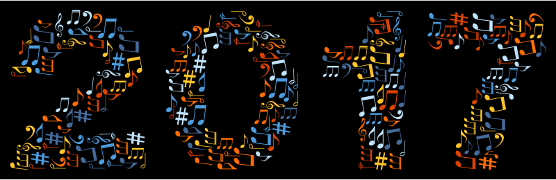 2017 Musical Notes Typography