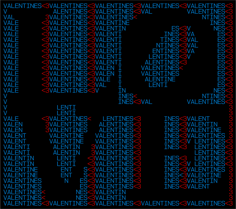 Valentine's Text Art 1
