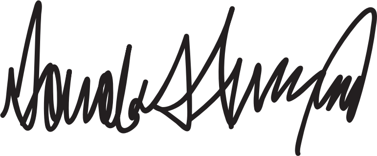 Donald Trump Signature