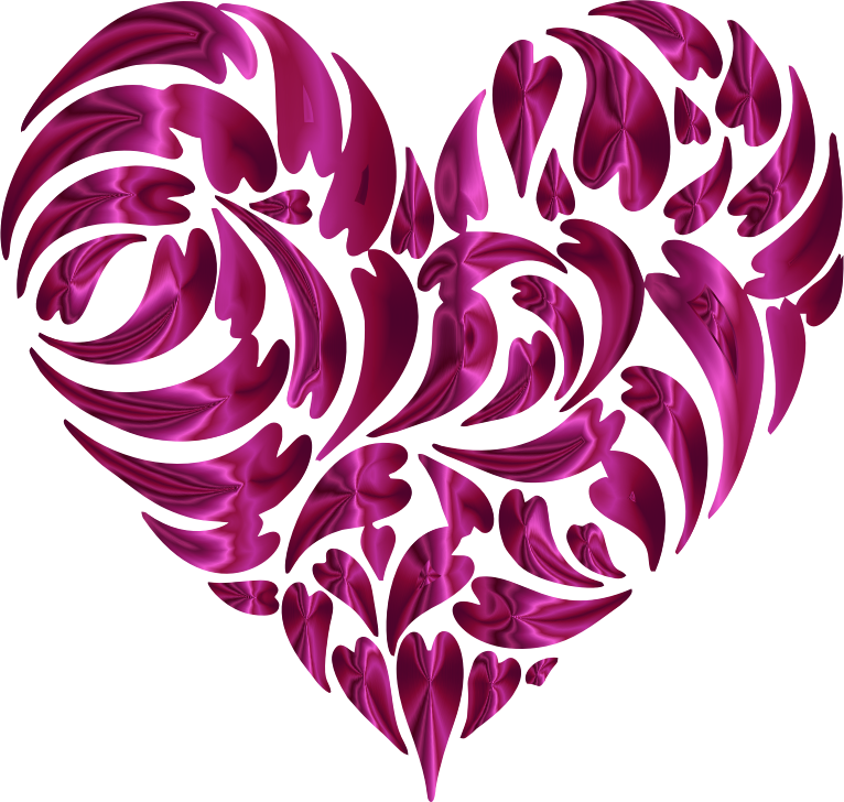 Abstract Distorted Heart Fractal Pink